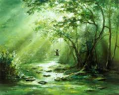 """The Swing"" painting by ""child prodigy"" Akiane Kramarick.   Akiane.com"