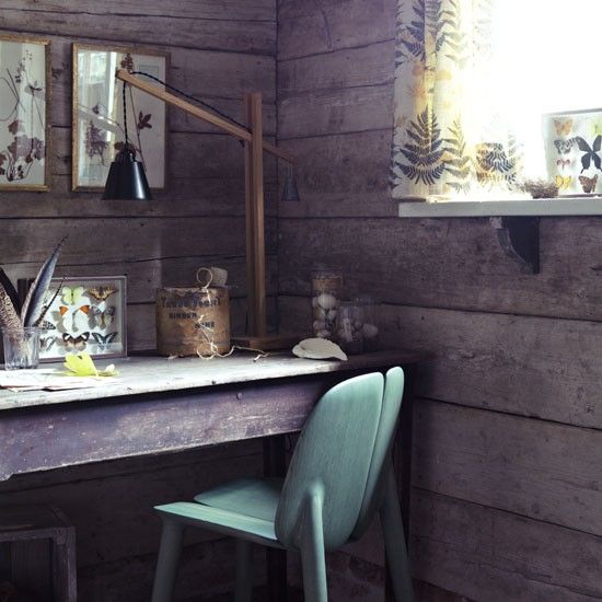 Rustic feel home office