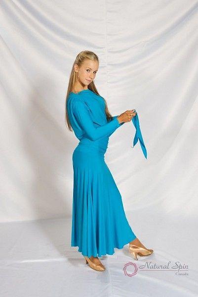 Natural Spin Dancewear Dance Tops(Long Sleeve):  M039T