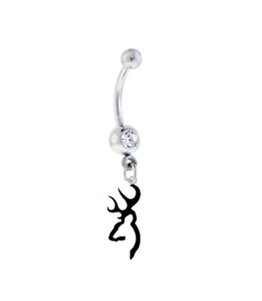 Browning BLACK Charm Sexy Belly Navel Ring  by SportsBodyJewelry