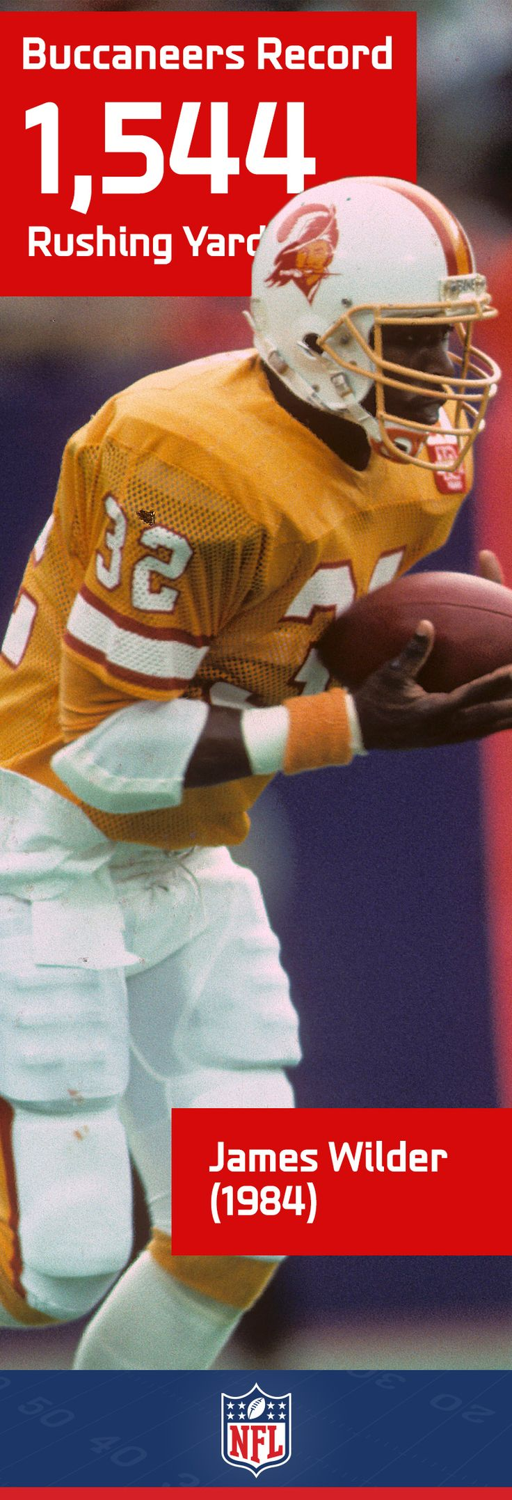 During the 1984 season, James Wilder also set the record for carries with 407 and touches with 492.
