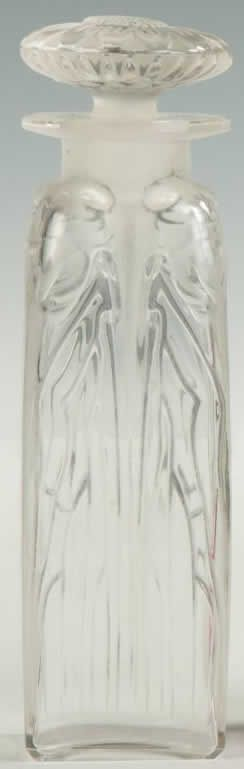 Rene Lalique Perfume Bottle Quatre Cigales, circa 1910