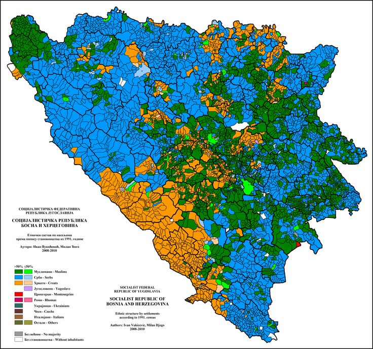 Ethnic groups in Bosnia Herzegovina in 1991 Map, Norway