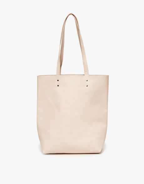 Natural Leather Tote by Cold Picnic