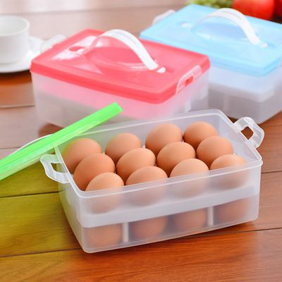 ביצת מזון מכולות תיבת אחסון 24 רשת bilayer סל ארגונית בית גאדג ' טים למטבח פריטים אבזרים מתכלים מוצרים