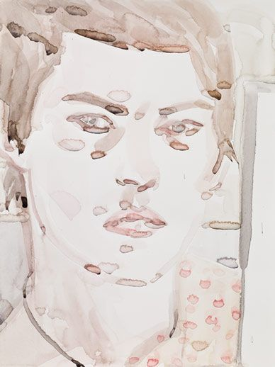 Elisabeth Peyton, Self Portrait, 2009  Watercolor on paper