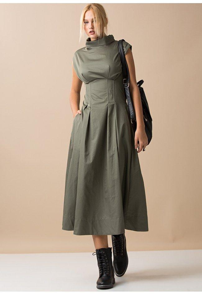Αμάνικο φόρεμα με κορσέ