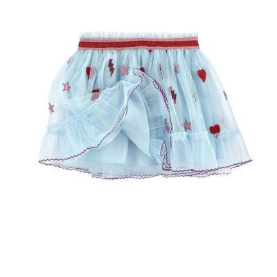 Gucci - Jupe en tulle avec patchs décoratifs - 209585