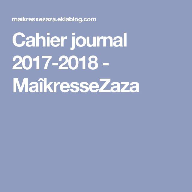 Cahier journal 2017-2018 - MaîkresseZaza