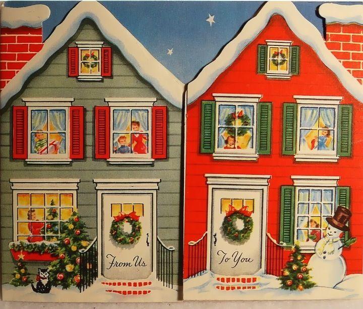 Neighbors at Christmas.
