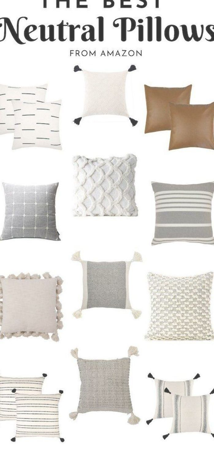 The Best Neutral Throw Pillows From Amazon Collection Of The Best