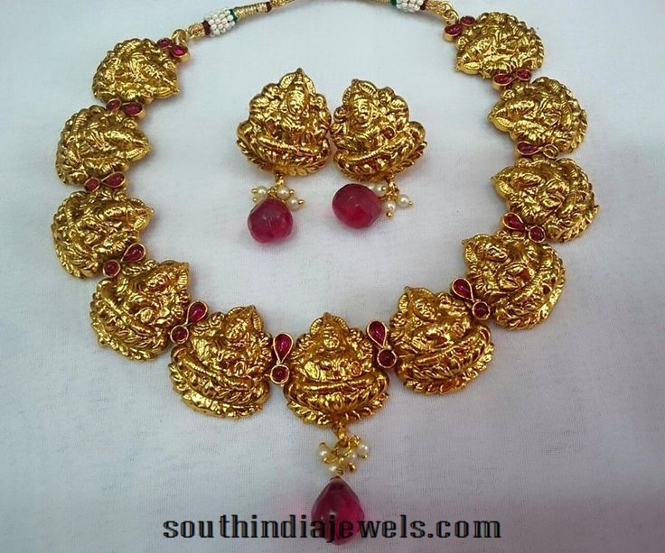 H4756 Kemp Temple Traditional Bridal Jewellery Vaddanam – Dibujos