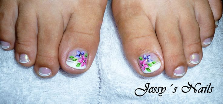 U as decoradas pies sencillas nail art pinterest pies - Unas de pies decoradas ...