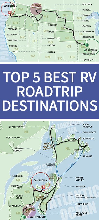 """A new list, compiled by Fantasy RV Tours, brings together some of their most popular rv destinations RVers could consider in their lifetime."" Looks just like our summer RV trip!"