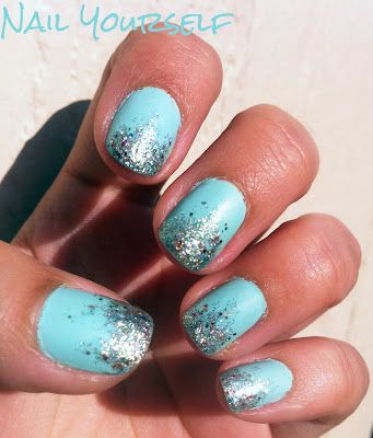 Matte polish with sparkly tips. ~Nail Yourself~: Silver Glitter Nails, Blue Matte Nails, Favorite Colors, Nails Makeup, Hair Makeup Nails, Thoughts I D, Nails Yourself Simple, 3Nails 3, Matte Nails Polish
