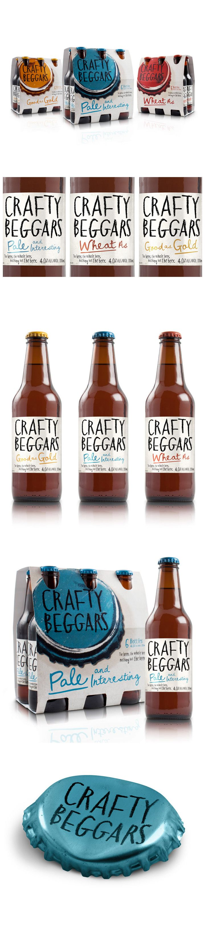 Nice Packaging from Crafty Beggars by Curious Design #beer #beverage #packaging