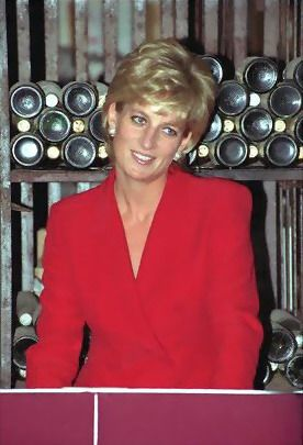 Princess Diana   lovely in red