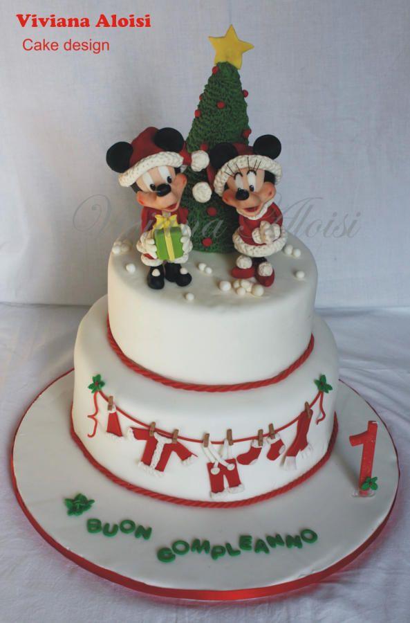 Christmas Mickey Mouse cake - Cake by Viviana Aloisi