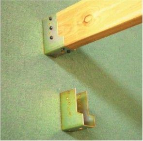 Staffa fissaggio a parete diritta