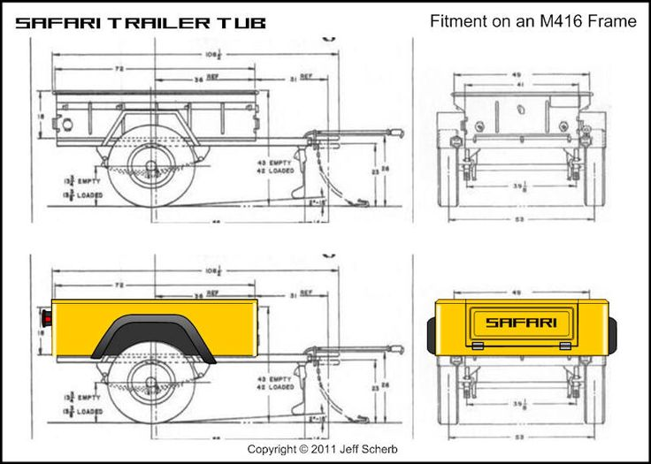 Bolt-together fiberglass Jeep-tub trailer kit - Page 132 - JeepForum.com