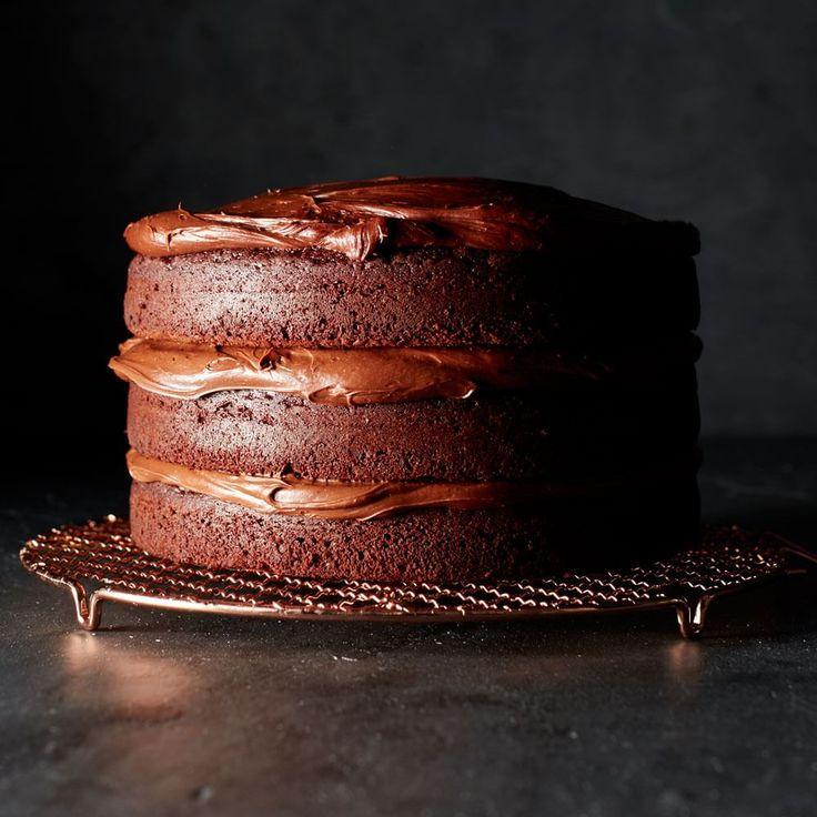 Double Chocolate Layer Cake   Williams-Sonoma