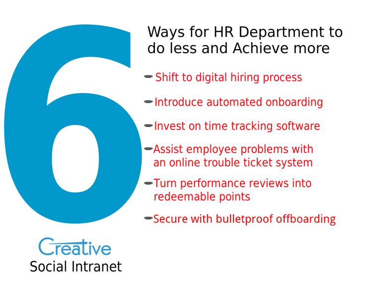 6 ways for hr department to do less and achieve more