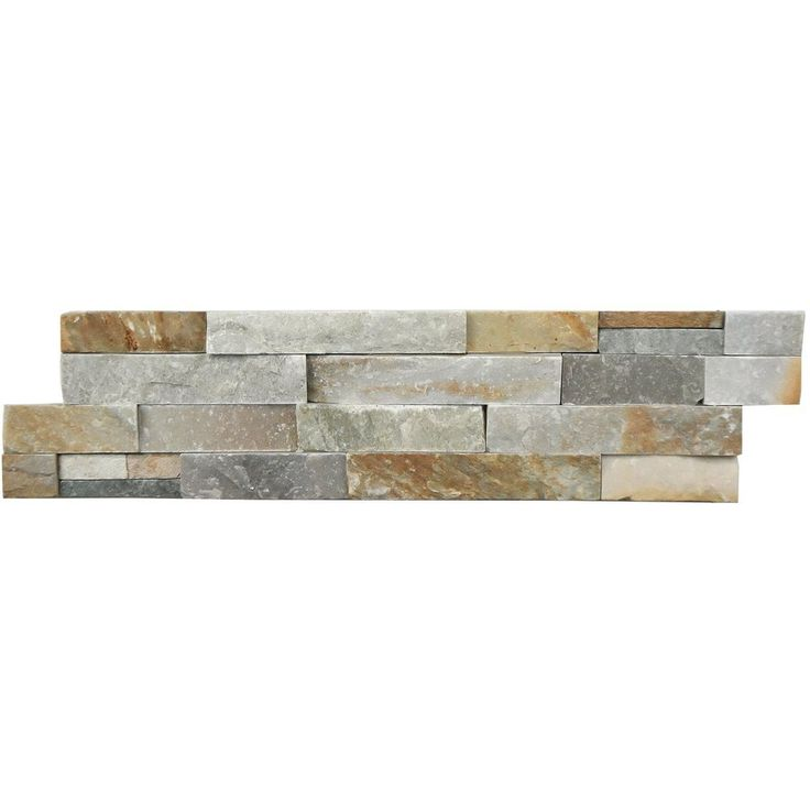 Shop Avenzo  6-Pack 24-in x 6-in Beachwood Light Splitface Natural Slate Wall Tile at Lowe's Canada. Find our selection of backsplashes