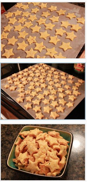 Homemade Cheese Crackers. Easy and yummy and loved by my toddler taste testers.