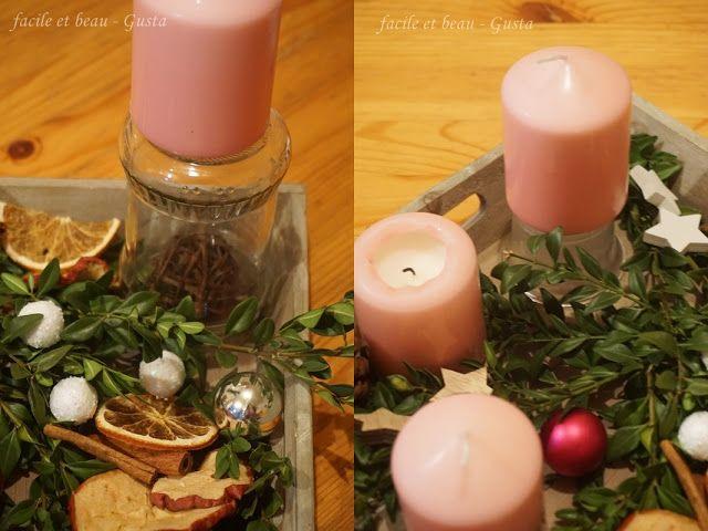 facile et beau - Gusta: Adventskranz mal anders