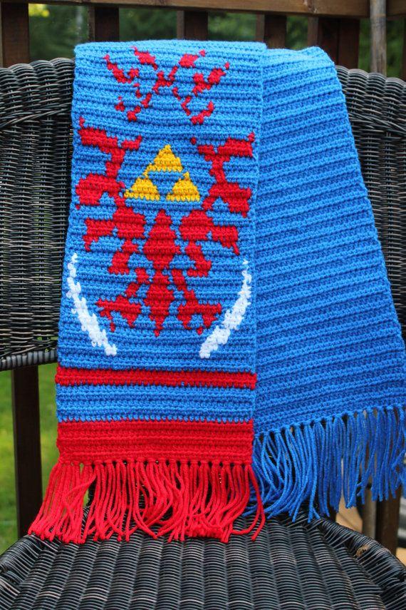 Zelda Scarf Knitting Pattern : Hyrule warriors link inspired scarf zelda scarves and
