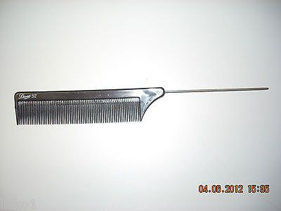 """DIANE #4101 BLACK 8-1/4"""" STEEL PIN TAIL , RAT TAIL COMB, FINE TOOTH 2-COMBS"""