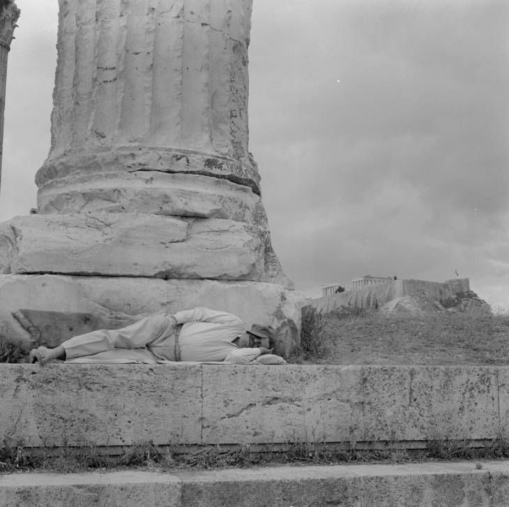 The Acropolis of Athens consists of the ruins of many monuments including the Parthenon, Erechtheion, Propylaea, Athena Nike temple, and others, built starting in the 5th century BC. Photographers: Sorensen, Clarence Woodrow, 1907-1982 Harris, Eugene V., 1913-1978. American Geographical Society Library, University of Wisconsin-Milwaukee Libraries