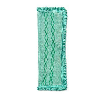 """Rubbermaid Commercial Prod. 1791793 Microfiber Dust Mop, 18 in., Green by Rubbermaid. $16.79. 18 in.. Sold Individually as 1 Each. Green. Microfiber dust mop is part of the Rubbermaid 18"""" Microfiber Cleaning System and durable up to 1,000 launderings. Serrated edge effectively cleans larger debris. Bleach-safe mop is easy to attach and detach from the Rubbermaid Hygen Clean Water System Double-sided Frames.. Save 12%!"""