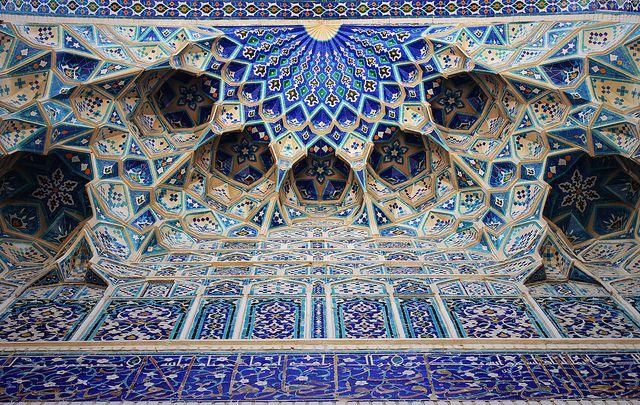 Islamic Architecture and tiles. Gur-e-Amir Mausoleum, Samarkand, Uzbekistan. by AC84, via Flickr