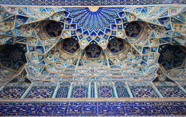 Islamic Architecture and tiles. Gur-e-Amir Mausoleum, Samarkand, Uzbekistan. by AC84, via Flickr