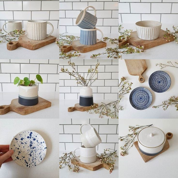 Here's a selection of what I've got available in my webshop this evening. (Charcoal and white storage jar bottom right is my absolute fave!) Everything is listed there now as 'coming soon' so you can have a good browse then all will be available to buy at 8pm (UK time). For those that were interested in the round glossy grey mugs I'm afraid they didn't dry in time to be glazed and so aren't in this update. If you're interested then feel free to send me a message. I will have a very limited…