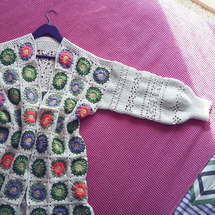 My Flower Meadow crochet cardigan is ready for departure to your wardrobe :)
