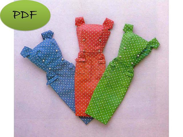 free barbie patterns   Vintage Reproduction for Barbie Dress - Sewing Pattern PDF   Flickr ...