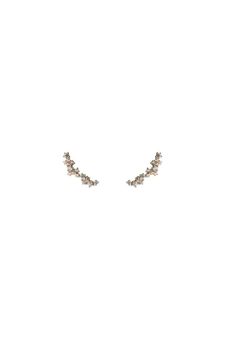 Five and Two Demi Earrings in Metallic Gold oOA5AZ