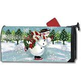 Mailwraps Snowy Skater Magnetic Mailbox Cover