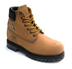 Work Boots For Women Sandy 6″ Work Boot Reg. $99.99 -  Now $35.00 Full-grain nu buck leather upper Steel toe and plate Suede leather padded tongue Padded collar Genuine good year welt construction Oil-resistant rubber outsole Removable dual density PU insole Spanco anti-bacteria lining CSA approved, Grade 1 Compression molded EVA midsole