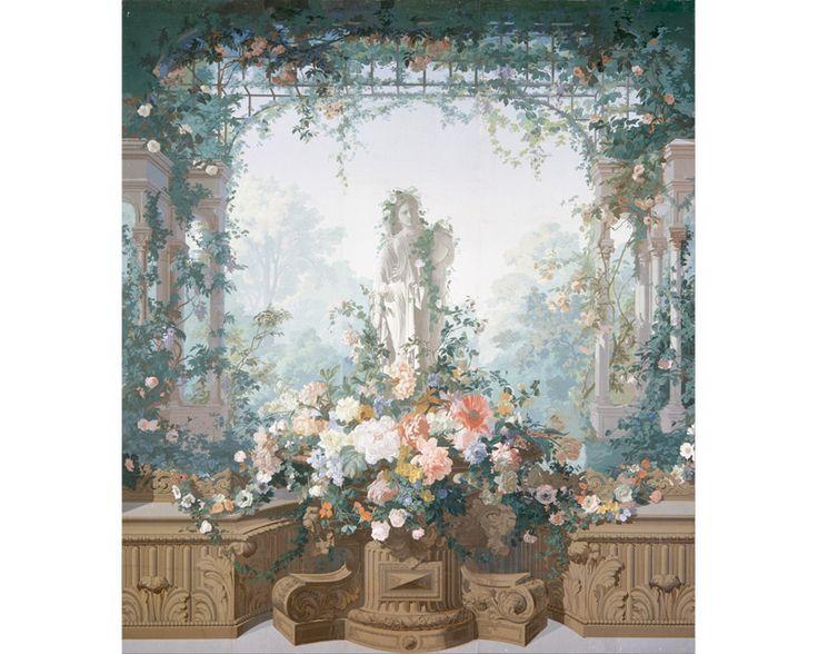 papier peint panoramique jardin d 39 armide edouard. Black Bedroom Furniture Sets. Home Design Ideas