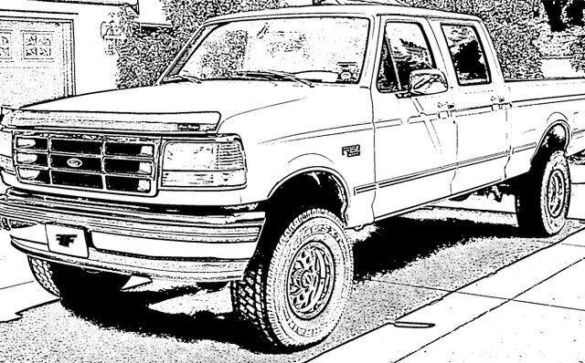 Models Ford Truck Coloring Sheet In 2020 Truck Coloring Pages Cars Coloring Pages Cool Car Drawings