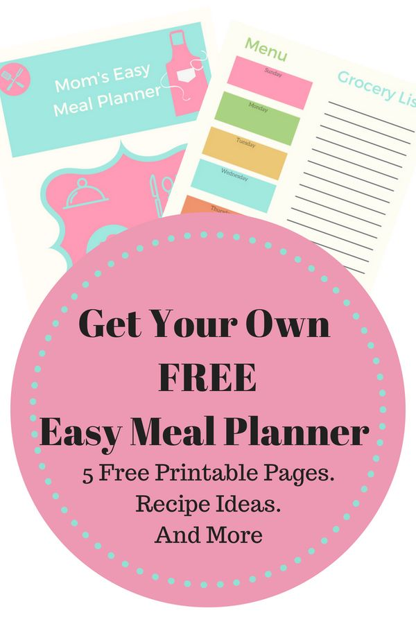 Get your FREE easy meal planner! Simplify the meal planning process with this printable planner. Get family friendly recipe ideas, money saving grocery tips, and more when you join The Coffee Mom Meal Planning Community!  #MealPlanning #FreeMealPlanner #MealPlanningIdeas #MealPrepIdeas #FamilyMealPrep #FamilyMealIdeas