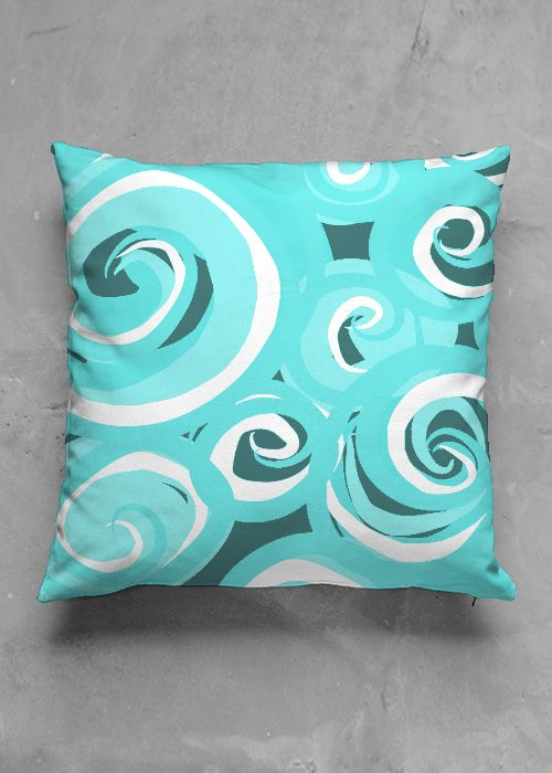 Green Waves- luxury pillow design by Charles Bridge 7x  buy in my Vida collection