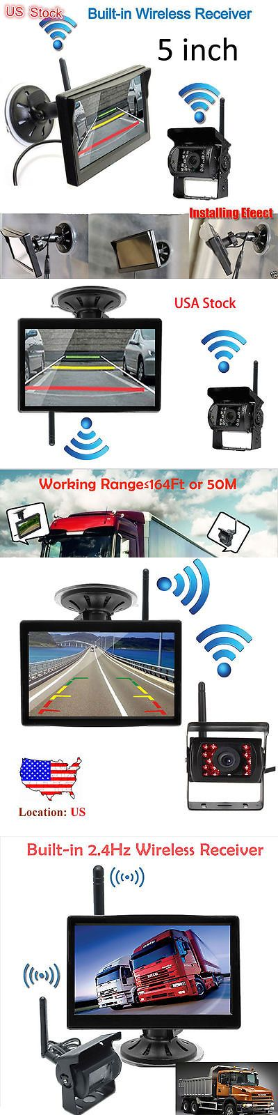 Rear View Monitors Cams and Kits: Wireless 5Car Rear View Monitor + Backup Camera + Antenna For Bus Truck Trailer -> BUY IT NOW ONLY: $58.99 on eBay!