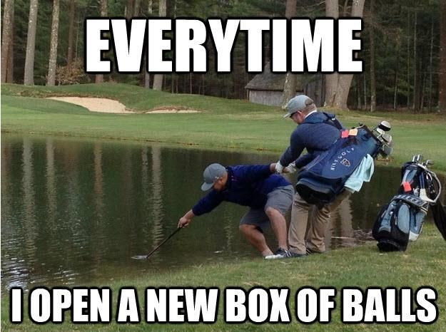 EVERYTIME I open a new box of balls