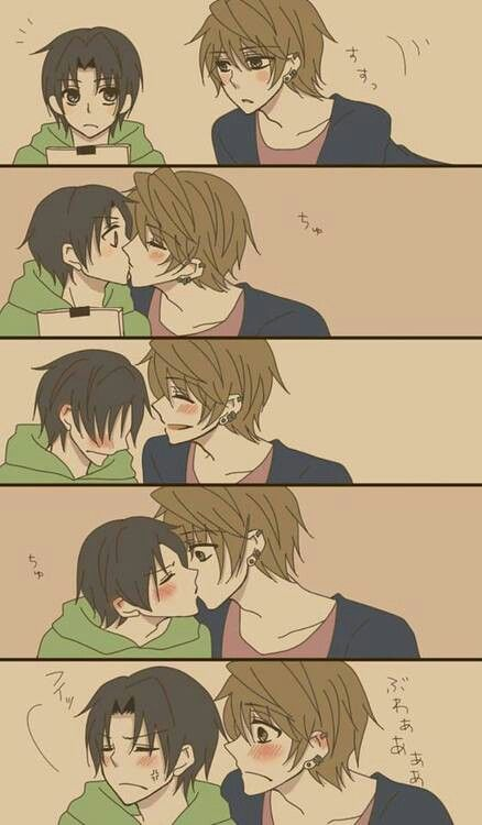 Sekai-ichi Hatsukoi / Yukina x Kisa-- Such a loving couple, and one of my favorites! :)