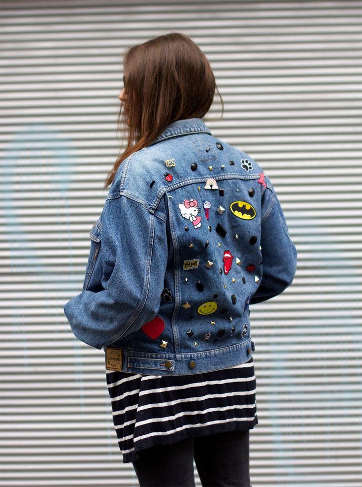 jeansjacke pimpen  we love handmade