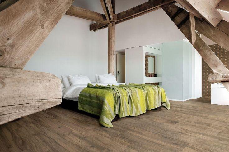 BuildDirect – Italian Porcelain Tiles - Vintage Woodgrain Series – Hazel Grove - Bedroom View